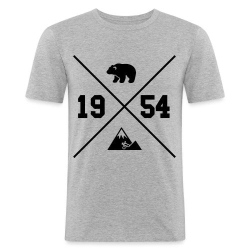 Karhuvuori -baseballhuppari - Miesten tyköistuva t-paita