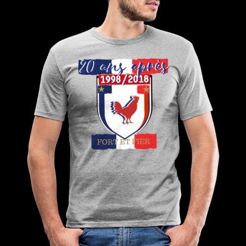 france FRANCE foot coupe du monde football - T-shirt près du corps Homme