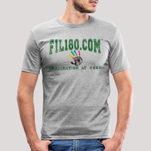 FIL180 HOODY GREEN - Men's Slim Fit T-Shirt