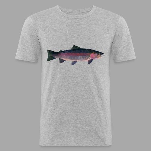 Trout - Miesten tyköistuva t-paita