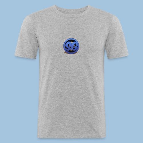 SompigGames Logo Vernieuwd - Mannen slim fit T-shirt