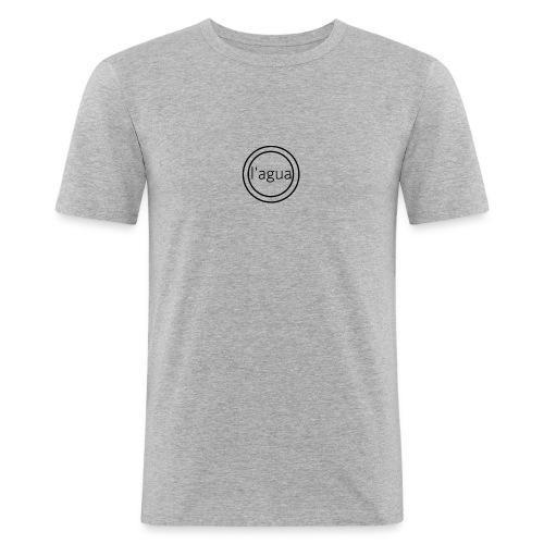 l agua black theme - Men's Slim Fit T-Shirt