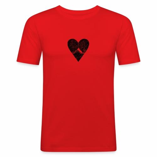 Bergliebe - used / vintage look - Männer Slim Fit T-Shirt