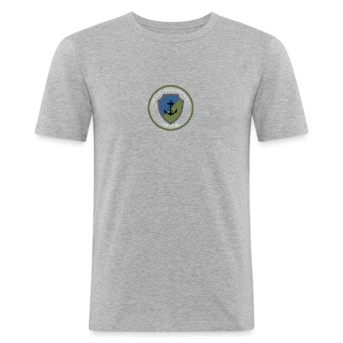 Basskydd 1.Pluton Vit Text - Slim Fit T-shirt herr