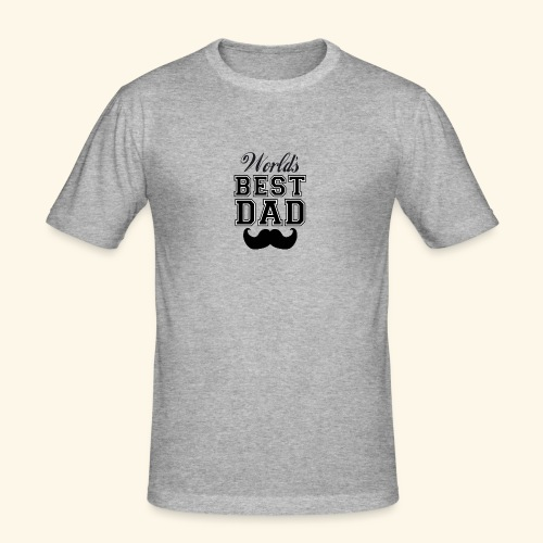 Worlds best dad - Herre Slim Fit T-Shirt
