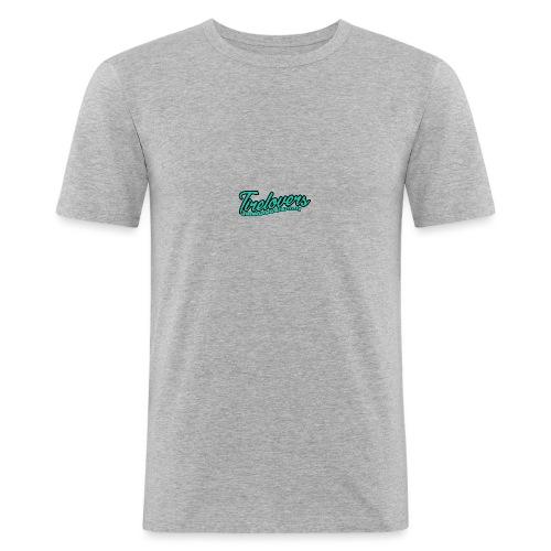 logo we are tirelovers text - Männer Slim Fit T-Shirt