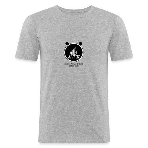 oeakloggamedsvarttext - Slim Fit T-shirt herr