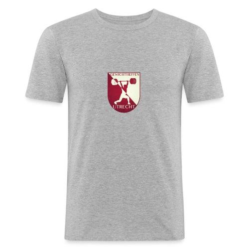 Oldschool Logo - Mannen slim fit T-shirt