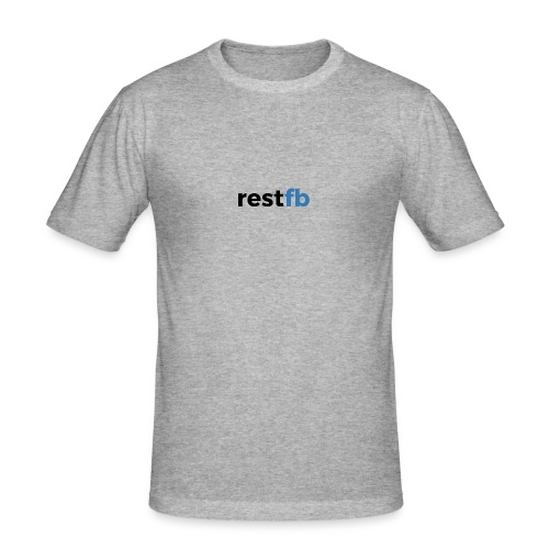 RestFB logo black - Men's Slim Fit T-Shirt