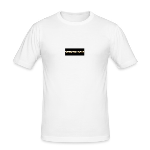 Concentrate on black - Men's Slim Fit T-Shirt