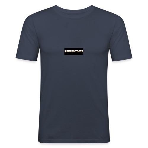 Concentrate on black - Men's Slim Fit T-Shirt