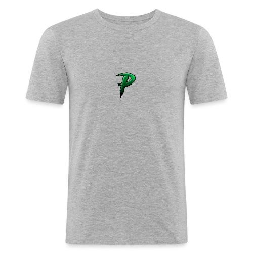 P vert - T-shirt près du corps Homme