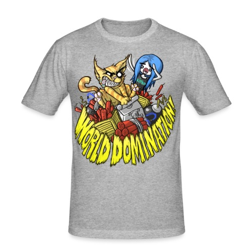 WORLD DOMINATION - Men's Slim Fit T-Shirt
