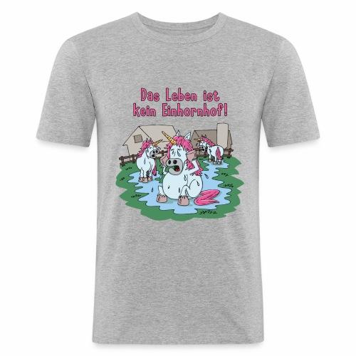 Kein Einhornhof! - Männer Slim Fit T-Shirt