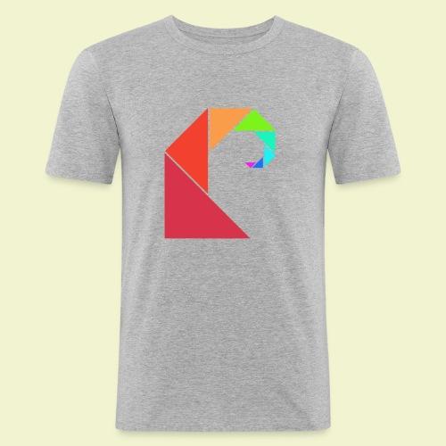 swell rainbow - Mannen slim fit T-shirt