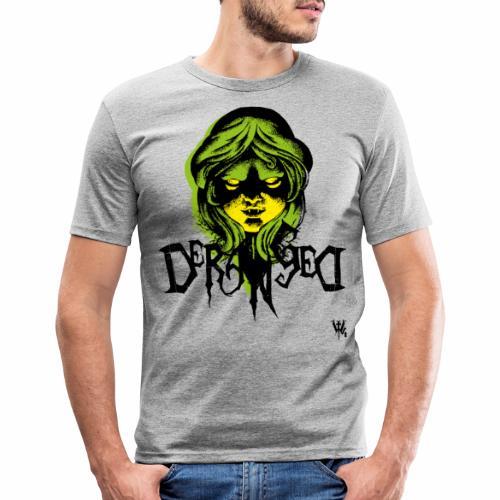 DerangeD - Tattoo Metal Horror Vampire - Herre Slim Fit T-Shirt