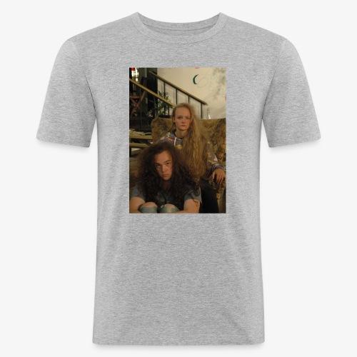 hair - Mannen slim fit T-shirt