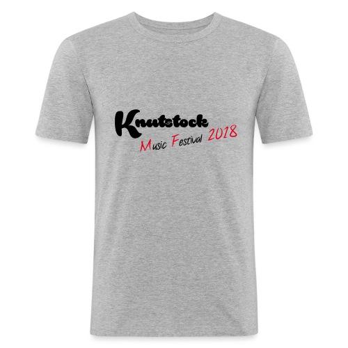 Knutstock MF Logo - Männer Slim Fit T-Shirt