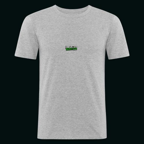 Dagelijkse Berichten Tshirt Logo v1 - Mannen slim fit T-shirt