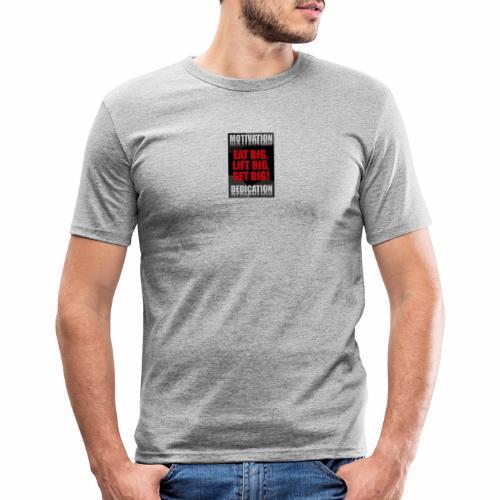 Motivation gym - Slim Fit T-shirt herr
