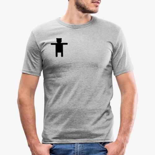 Ippis Entertainment, Black - Miesten tyköistuva t-paita