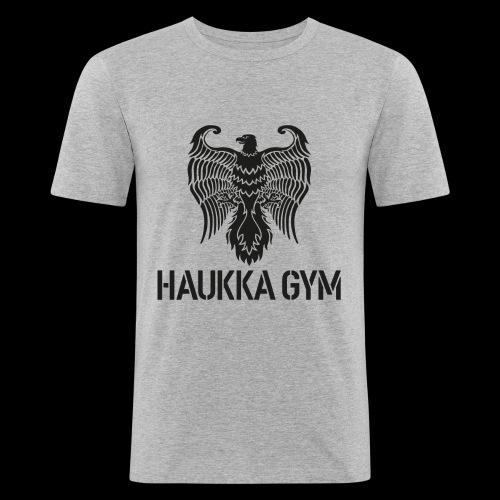 HAUKKA GYM LOGO - Miesten tyköistuva t-paita