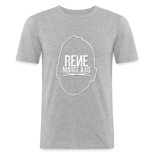 hoofdlogo - Mannen slim fit T-shirt