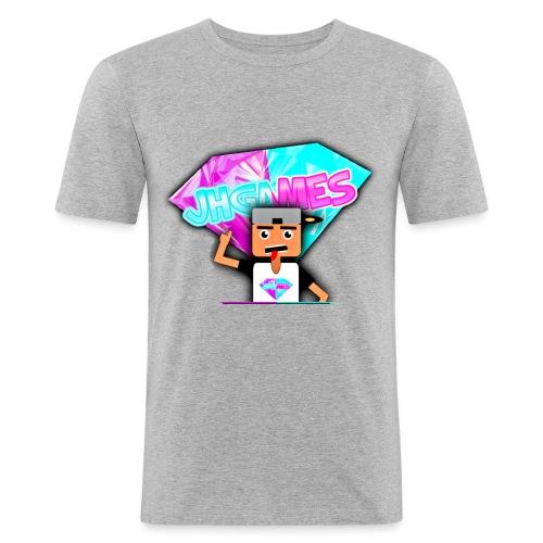 JHGAMES Nieuwe Logo 2 jaar bestaan van JHGAMES - Mannen slim fit T-shirt