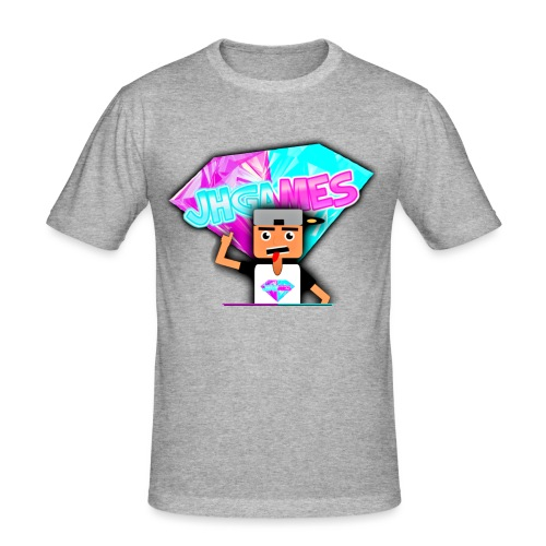 JHGAMES Nieuwe Logo 2 jaar bestaan van JHGAMES - slim fit T-shirt