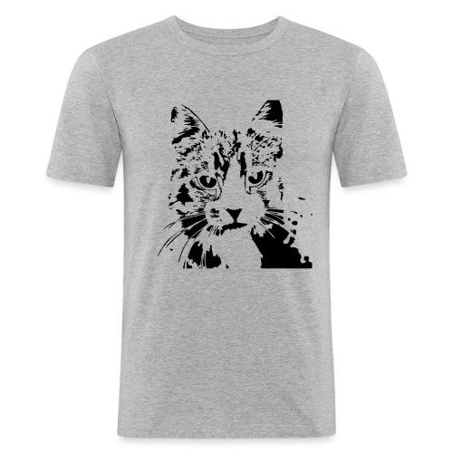 gatto - Maglietta aderente da uomo