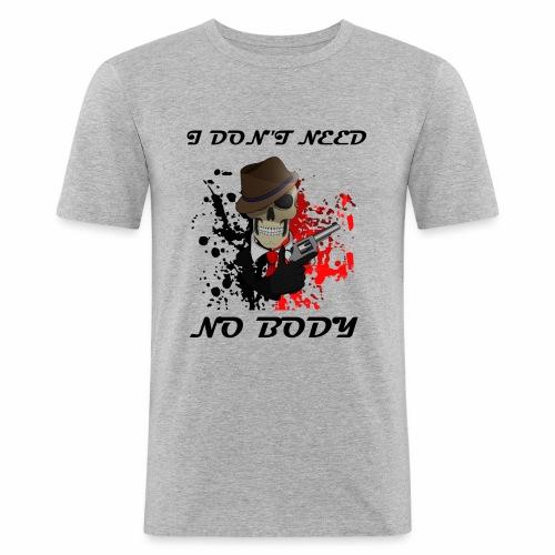 Calavera - Camiseta ajustada hombre