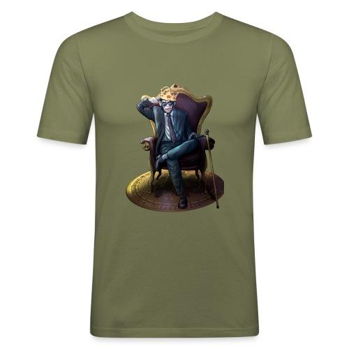 Bitcoin Monkey King - Gamma Edition - Männer Slim Fit T-Shirt