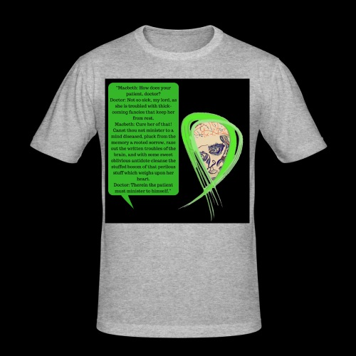 Macbeth Mental health awareness - Men's Slim Fit T-Shirt