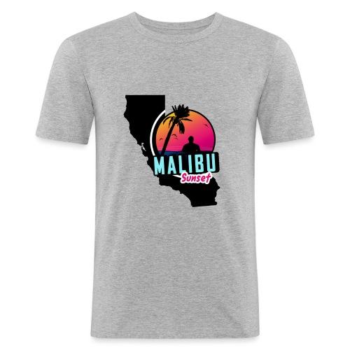 Malibu sunset - T-shirt près du corps Homme