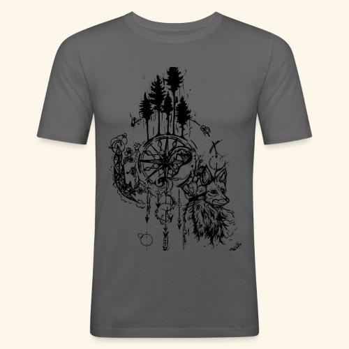 renard nature - T-shirt près du corps Homme