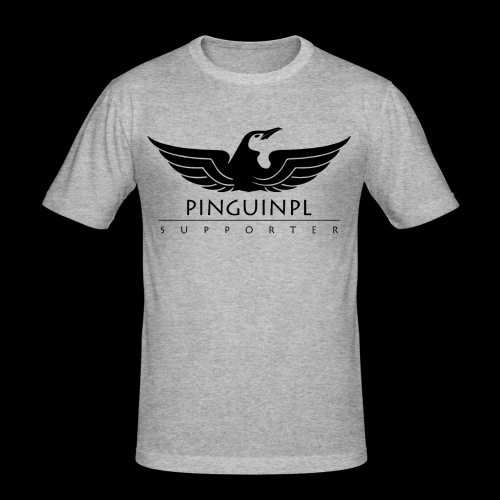 zwolennikiem Blackline - Obcisła koszulka męska