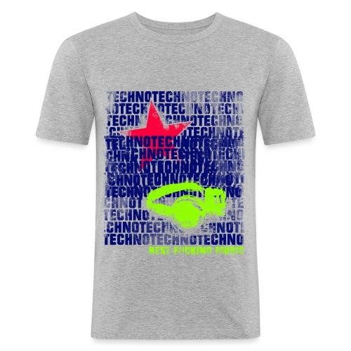 techno stern 1 - Männer Slim Fit T-Shirt