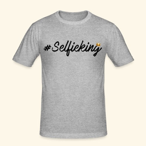 #Selfieking - Mannen slim fit T-shirt