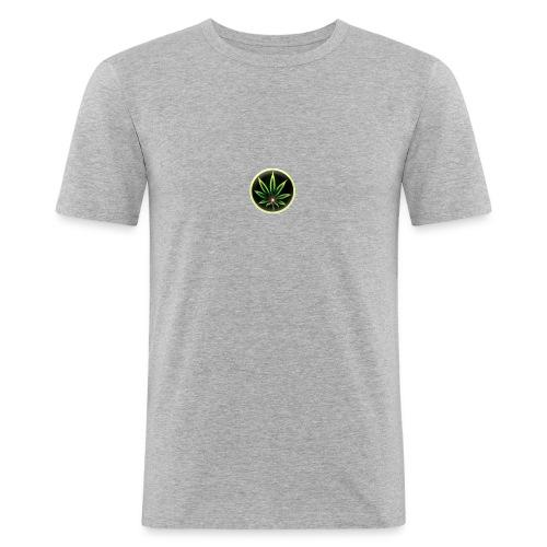 cannabis-vue-densemble - T-shirt près du corps Homme