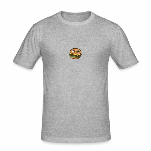 Burger Cartoon - Mannen slim fit T-shirt