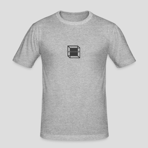 Squared Apparel Black / Gray Logo - Men's Slim Fit T-Shirt