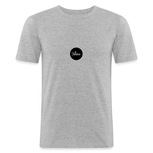 Tekkie Black Logo - Mannen slim fit T-shirt