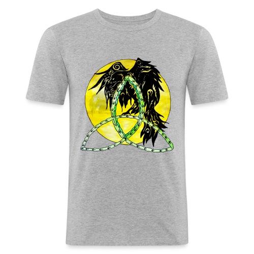 tribalrabe2 - Männer Slim Fit T-Shirt