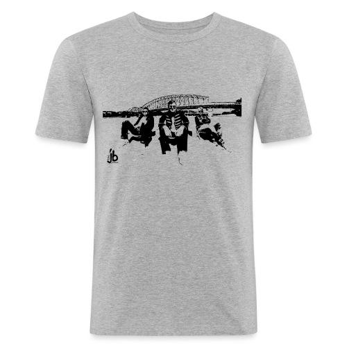 tjb Eisenbahrnbr b - Männer Slim Fit T-Shirt