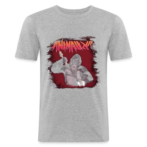 Animalizer T-Shirt Print Black - Männer Slim Fit T-Shirt