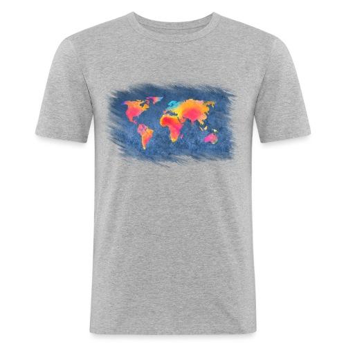 World - Männer Slim Fit T-Shirt
