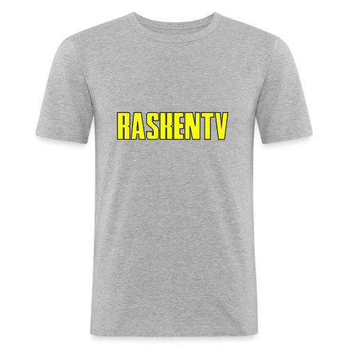 RaskenTv Yellow - Slim Fit T-shirt herr