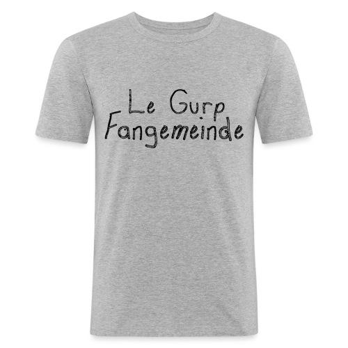lgfangemeindeblack - Männer Slim Fit T-Shirt