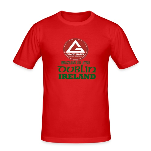 Gracie Barra Dublin Gaelic Celtic Font PNG - Men's Slim Fit T-Shirt