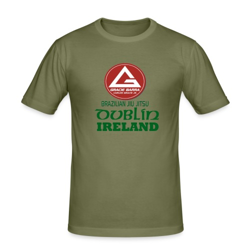 Gracie Barra Dublin Gaelic Celtic Font PNG - Men's Slim Fit T-Shirt
